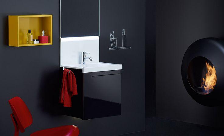#noir #black #salledebain #bathroom #meuble #lavabo #conceptwall #Burgbad