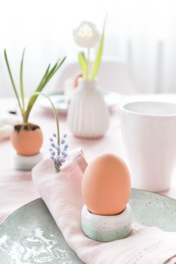 Eierbecher Aus Salzteig U0026 Tischdeko Für Ostern