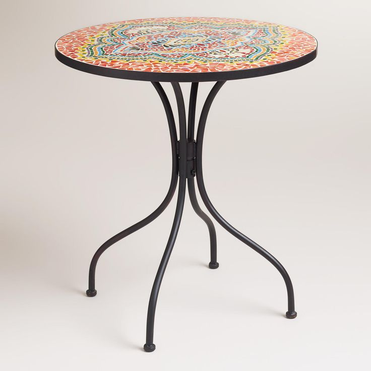 Medallion cadiz mosaic bistro table for the home for Table 7 bistro