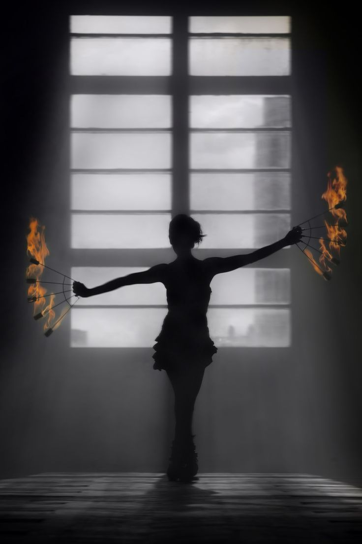 Firedancer with fire fans - Anta Agni FIRE Show. http://antaagni.com/fire-show/