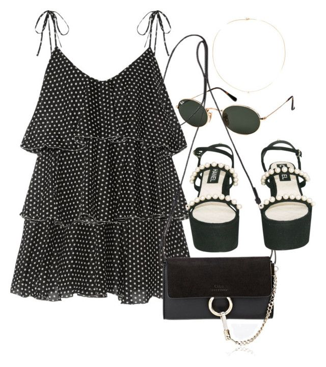 """Untitled #3448"" by camilae97 ❤ liked on Polyvore featuring Lisa Marie Fernandez, Ray-Ban, Loren Stewart, Chloé and Chanel"