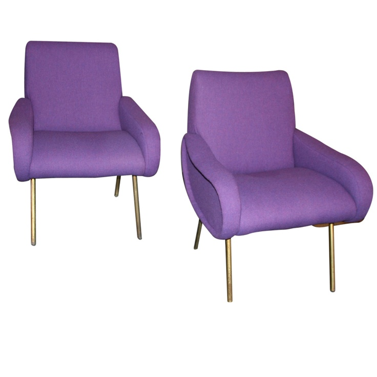 """Pair of Armchairs """"Lady"""" by Marco Zanusso."""