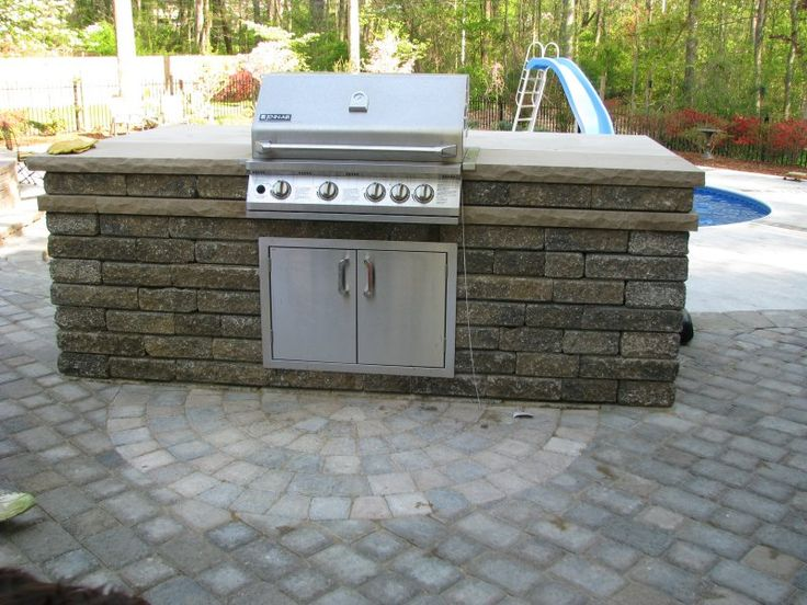 72 best outdoor fireplace ideas images on pinterest for Prefabricated outdoor kitchen kits