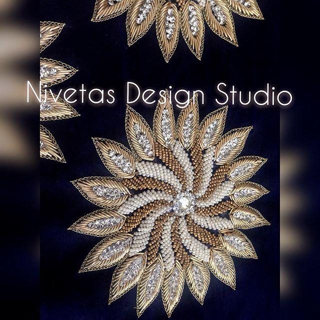 An eye to embroidery design #nivetasdesignstudio #embroidery #nds…