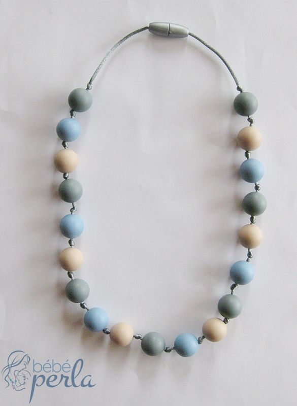 Little girl silicone necklace - Abigail www.bebeperla.com