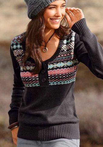 Žakárový pulovr #ModinoCZ #autumn #fall #fashion #trendy #stylish #fallfashion #moda #podzimnimoda #trend