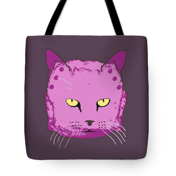Cloth Diaper Cat In Purple Tote Bag by Sverre Andreas Fekjan.  The tote bag is machine washable, available in three different sizes, and includes a black strap for easy carrying on your shoulder.  All totes are available for worldwide shipping and include a money-back guarantee.