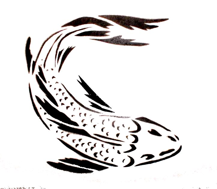 4655 best silhouettes stencils images on pinterest for Koi fish stencil