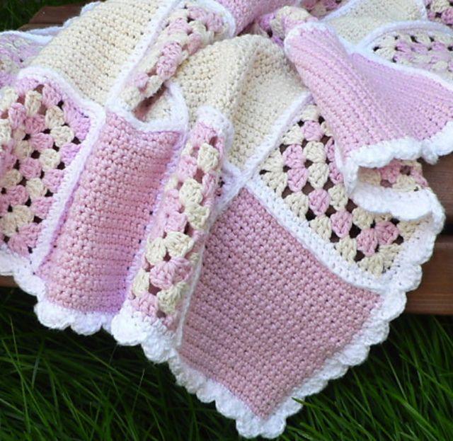 Ravelry: Bubblegirl Sweet Dreams Baby Blanket by Lisa Charbonneau