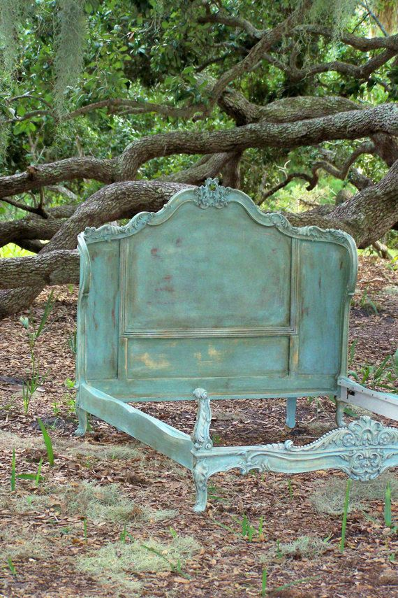 RESERVED Shabby French/ Italian Provencial Bed