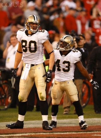 Jimmy Graham and Darren Sproles of New Orleans Saints