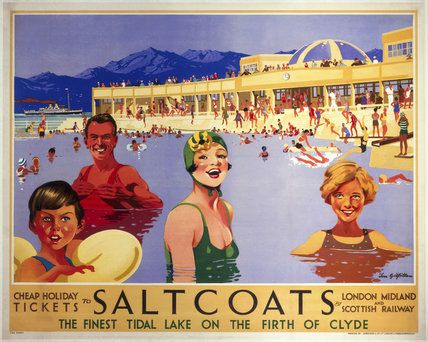 'Saltcoats', LMS poster, 1935..17