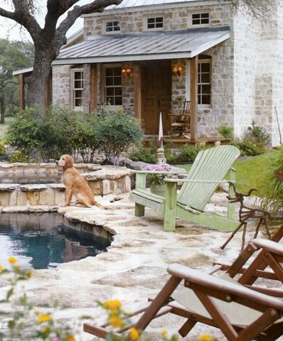My dream rock house and pool in Texas. One day... (Outdoor
