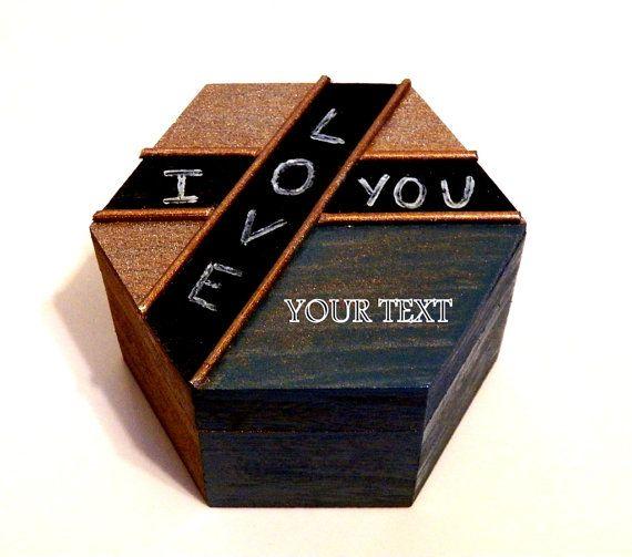 Personalizada Caja para Hombre Caja Rústica de por Tutorialpaper
