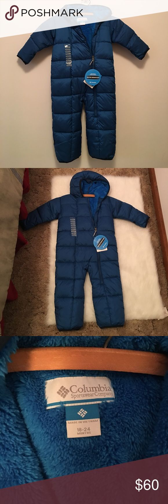NWT blue COLUMBIA snow suit NWT blue Columbia snow suit. 18-24 months Columbia Jackets & Coats