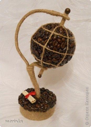 Мастер-класс, Поделка, изделие Моделирование: Кофейный глобус + МК Материал природный, Шпагат. Фото 1