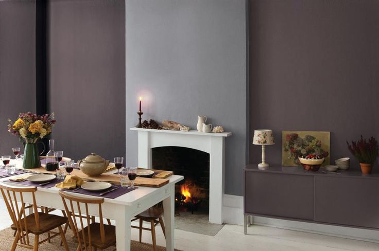 Try Out Some Modern Rich Greys And Purples Seen Here Is