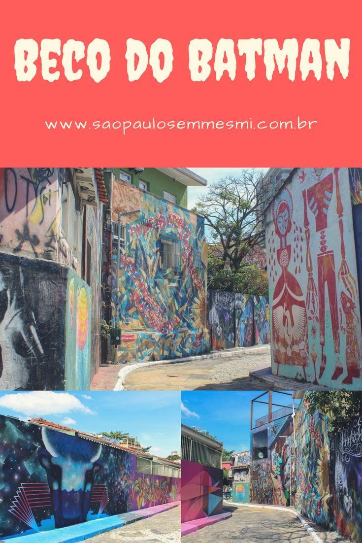 O beco do batman na Vila Madalena é uns dos melhores lugares para apreciar graffiti em São Paulo. Seus muros coloridos encantam os apreciadores de arte urbana, saiba mais sobre ponto turístico vibrante de street art em São Paulo.