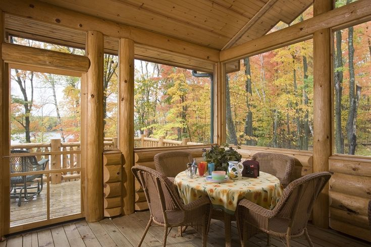1000 ideas about screen porch kits on pinterest porch for Log home sunrooms