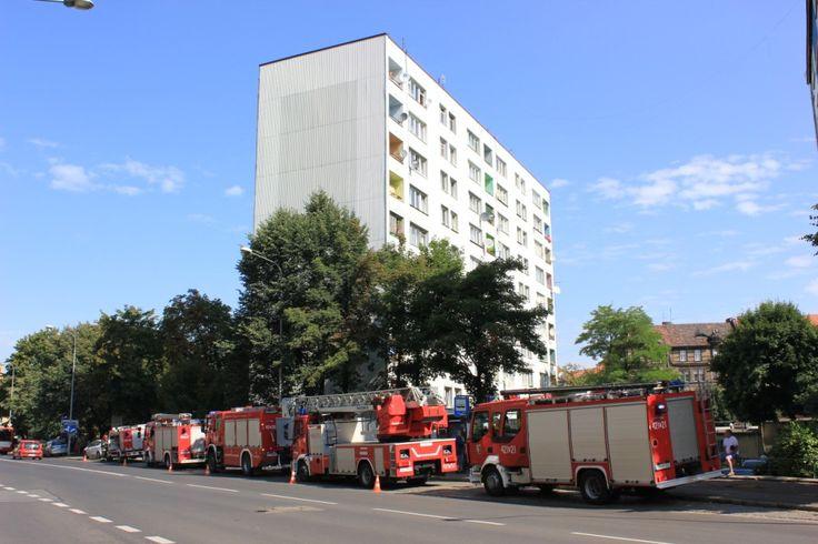 Akcja ratownicza straży pożarnej - Strzelców Bytomskich 6 - fot. Piotr A. Jeleń