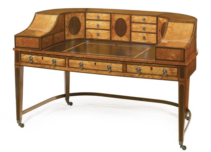 A fine George III inlaid satinwood and rosewood Carlton House desk, circa  1790. Regency FurnitureAntique ... - 706 Best Georgian Furniture Images On Pinterest Auction, Antique