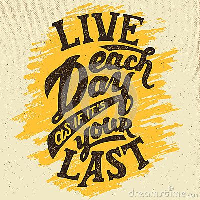 Live Each Day Hand-drawn Typography Design Stock Vector - Image ...