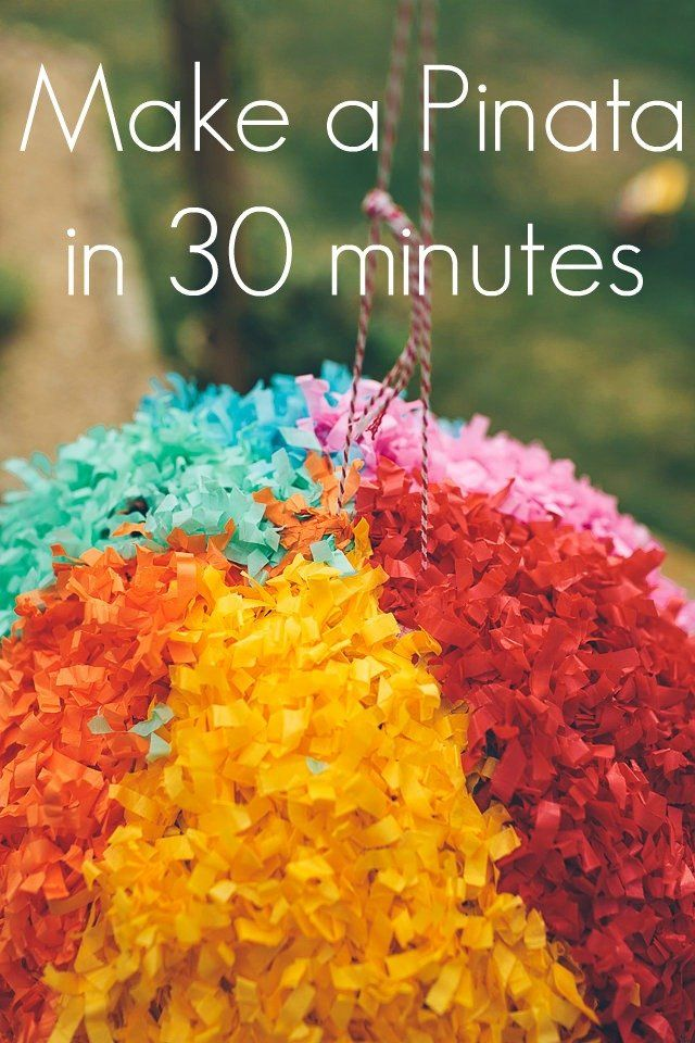 How to make a Giant Piñata in just 30 minutes! The piñata is the pièce de résistance of any children's party. There are many piñata in the shops but in our hous
