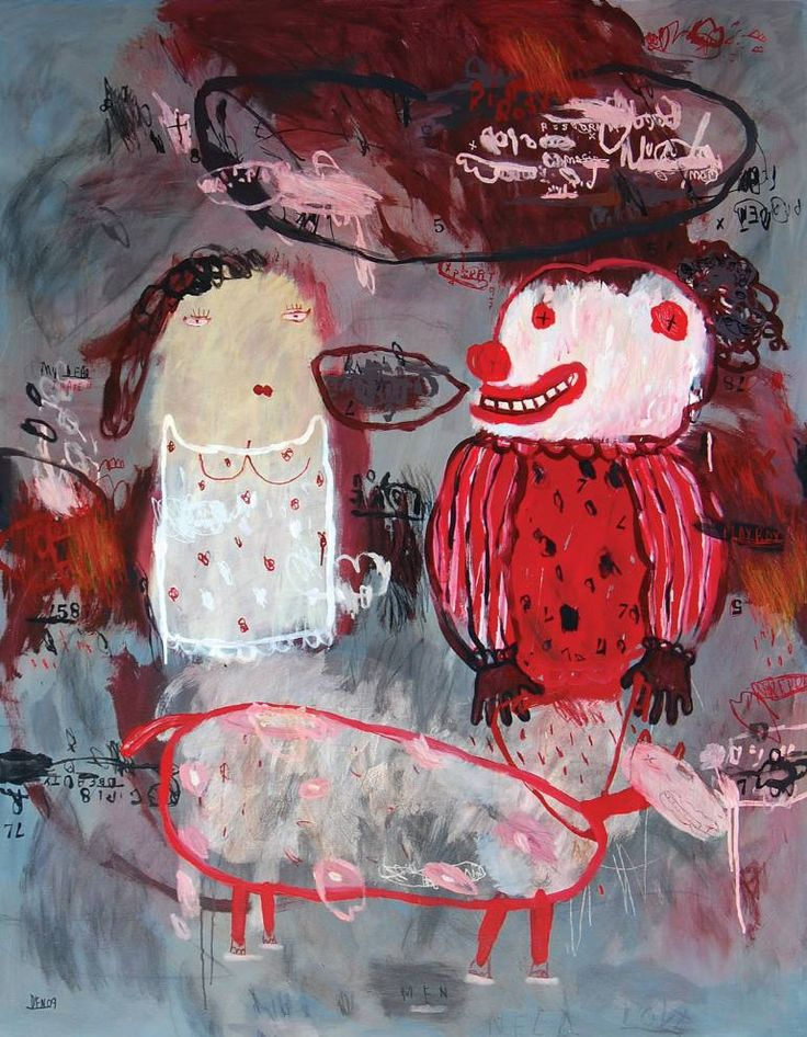"Saatchi Art Artist deny pribadi; Painting, ""my dear i hate you"" #art"