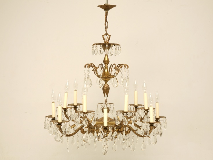 1000 images about Chandeliers vintage crystal and brass on – American Brass and Crystal Chandeliers