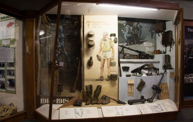 Uniforms, boots and supplies  http://citysightseeing-blog.co.za/2014/06/07/ditsong-national-museum-of-military-history-johannesburg/