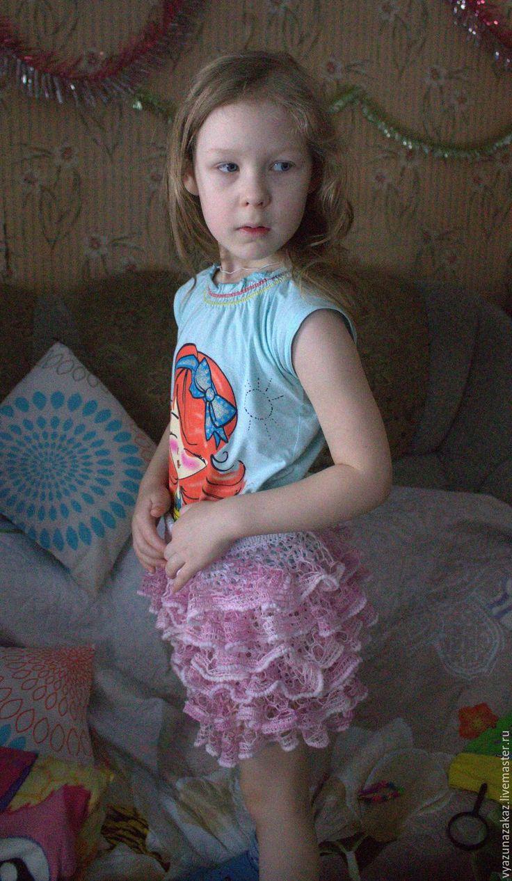Купить Юбочка для девочки Кружевное облачко - комбинированный, юбка, юбочка крючком, юбочка вязаная