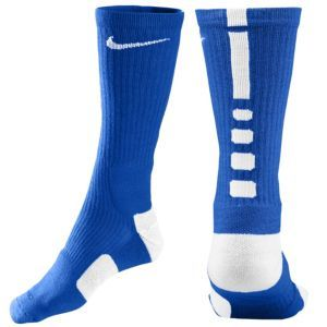 Nike Elite Basketball Crew Sock - Men's - Basketball - Accessories - Royal Blue/White