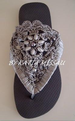 Crocheted Sandals - Chart ❥ 4U // hf