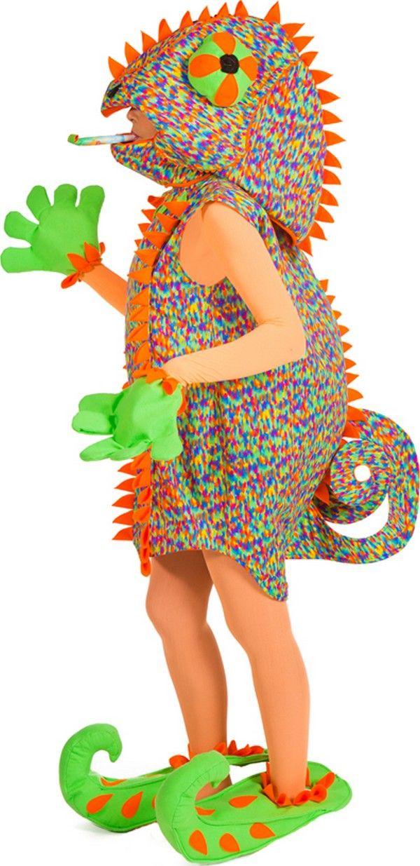 Das ist garantiert eine flauschig-warme Verkleidung für Fasching und Karneval! Mit diesem witzigen Chamäleonkostüm können Sie warm eingepackt und voll verkleidet feiern gehen.