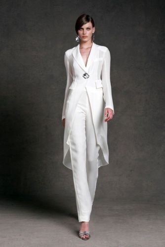 plus size mother of the bride pant suits with long jacket dress for