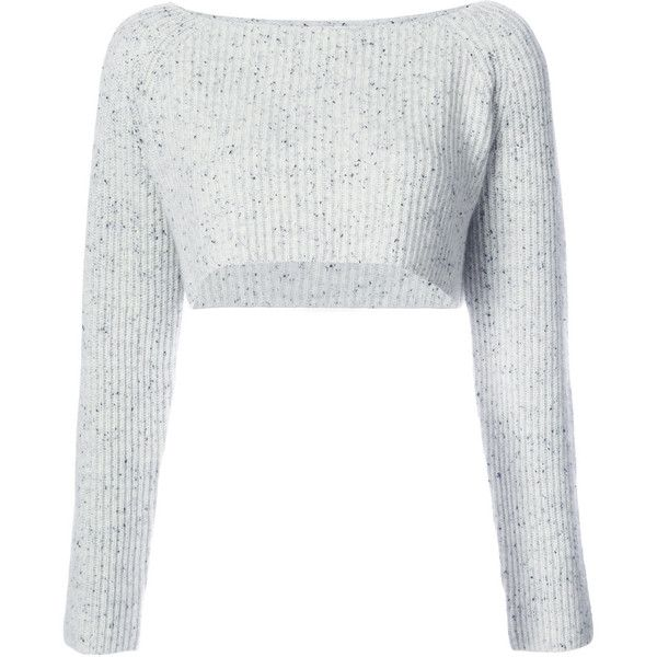 043cfe168c97d Baja East cropped ribbed jumper (988 CAD) ❤ liked on Polyvore featuring tops