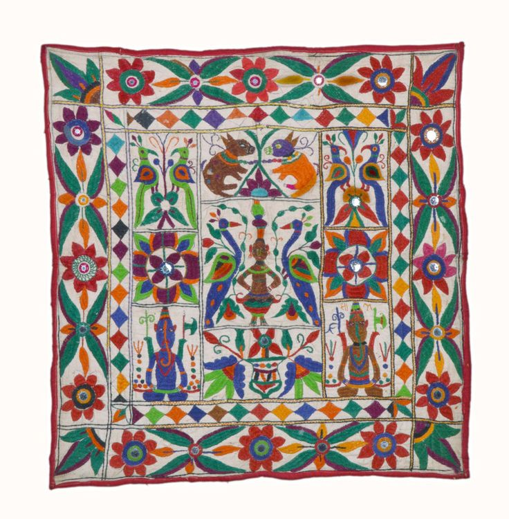Heritage #BANJARA RABARI HEAVY EMBROIDERY ETHNIC WALL TRIBAL HANGING