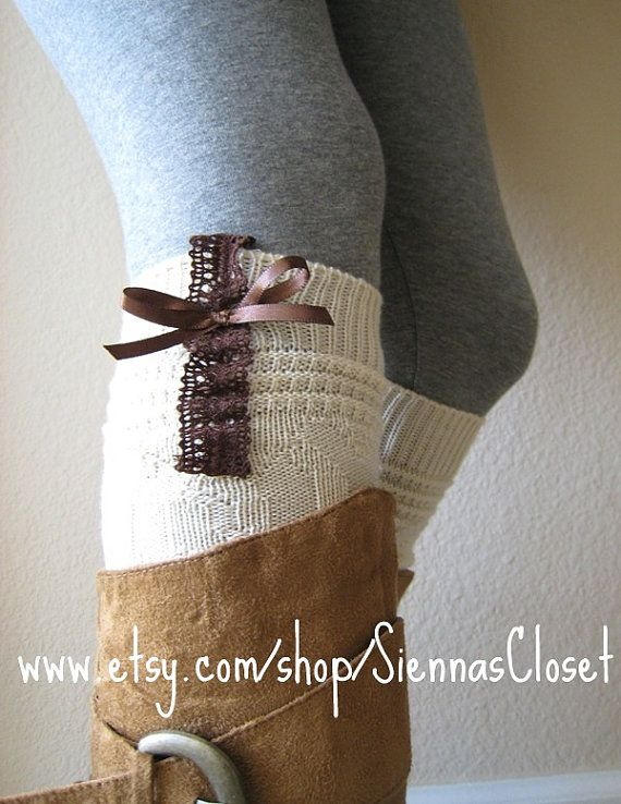 These bootsocks are so cute - I bet my auntie K could make these!  How cute would Emma and I look?