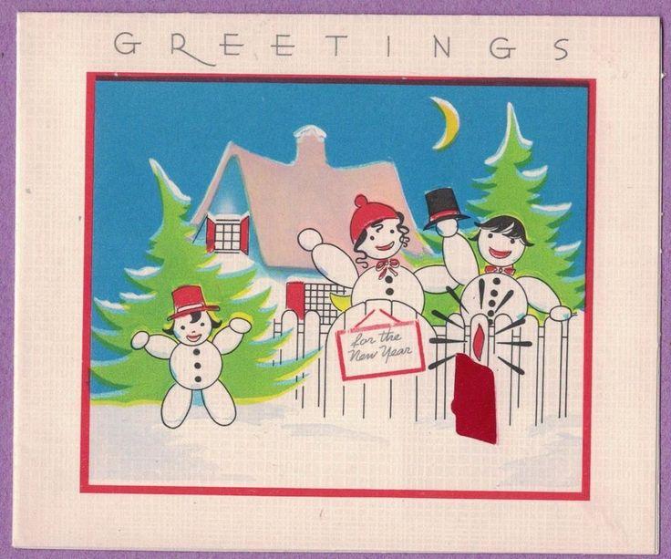 new year greeting card drawing