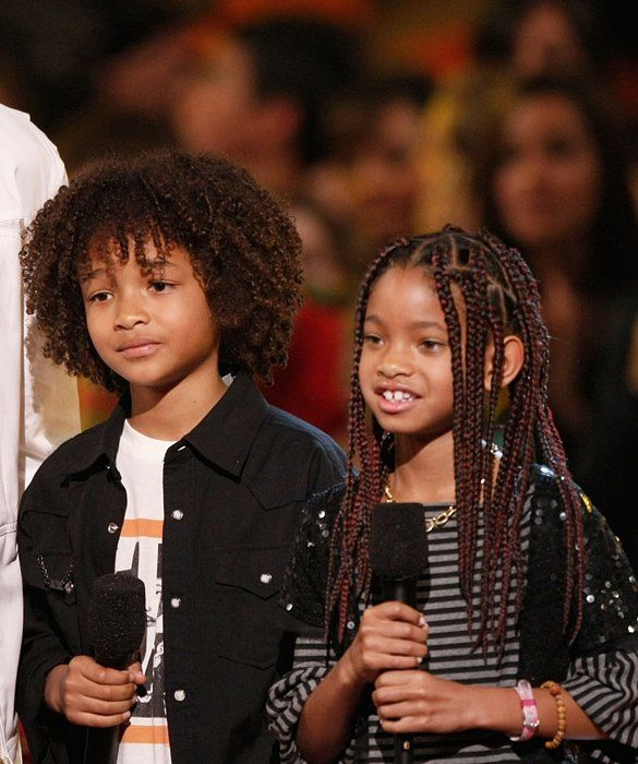 Willow and Jaden Smith, March 2008 Jaden and Willow join dad Will Smith (not pictured) on stage at Nickelodeon's Kids' Choice Awards.