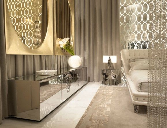 italian glass furniture. nella vetrina italian cabinet shown in stainless steel with lacquered glass top and two central doors furniture i