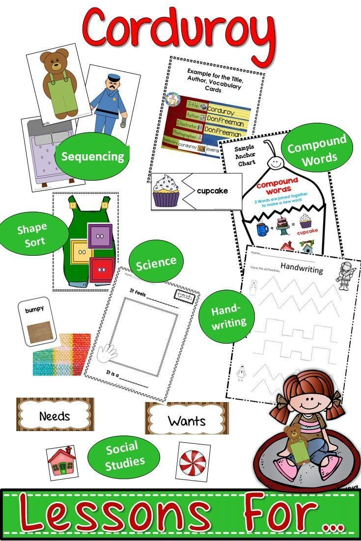 Perfect for PK and K.  This product is full of ideas to use with one of the classics Corduroy by Don Freeman.  Included in this product: 4 Days of Lesson Plans which include before, during and after reading suggestions  Vocabulary suggestions with Word Wa