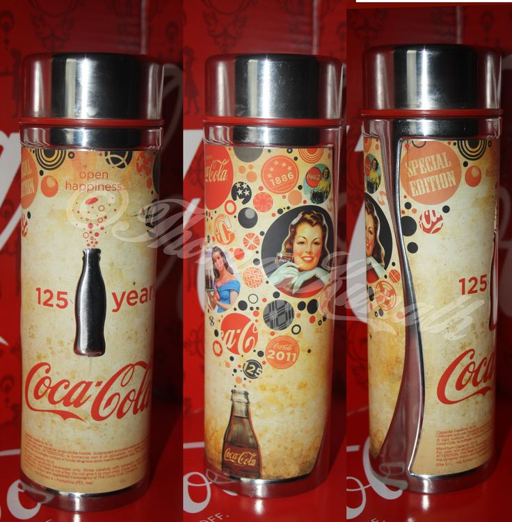 coca cola 125 jahre thermoskanne my collection coca cola alu bottles pinterest. Black Bedroom Furniture Sets. Home Design Ideas
