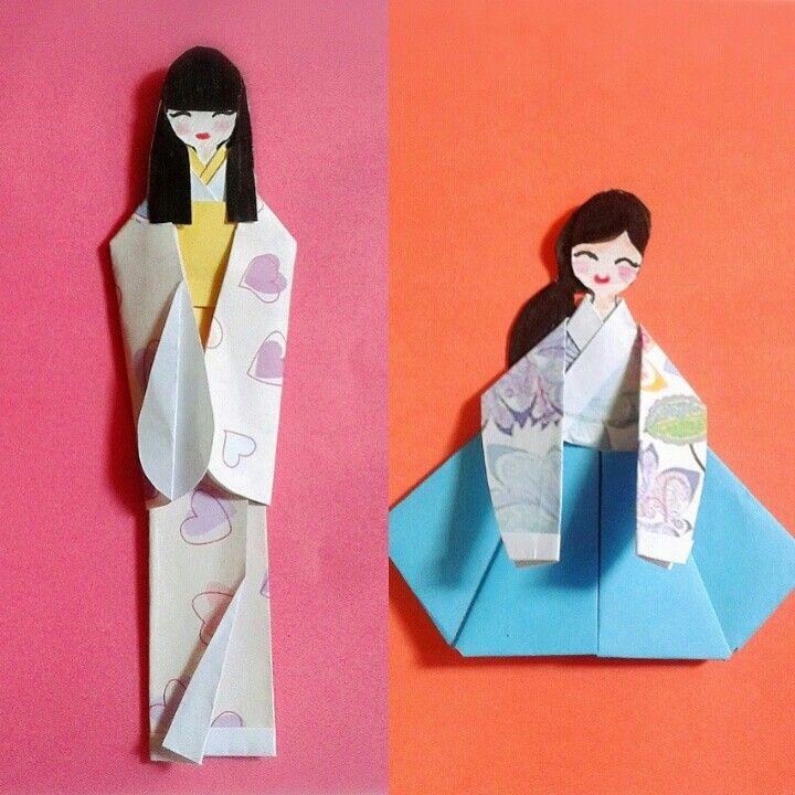Kimono and Hanbok Origami ❤