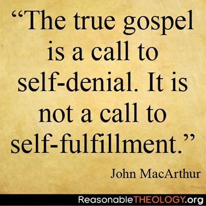 Dr. John MacArthur As born again Christians, we are NOT promised health, wealth or fame.   Jesus said to leave all and GO & TELL.   Nothing here is of any value, only what is done for Christ will last.
