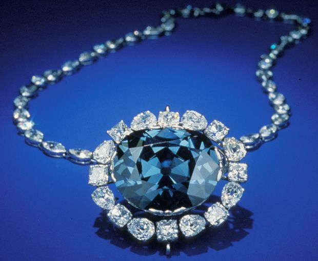 """The most famous of the royal jewels is probably the French Blue.    Today, it is known as the Hope Diamond. It was originally part of the Emblem of the Golden Fleece, made for Louis XV. During the Revolution, it was stolen and cut down to its present shape.    The famous """"curse"""" of the Hope Diamond is said to have befallen Marie Antoinette.However, she never actually wore it. Because of its value and importance, only the King could wear it in the Emblem of the Golden Fleece. Recently, this…"""