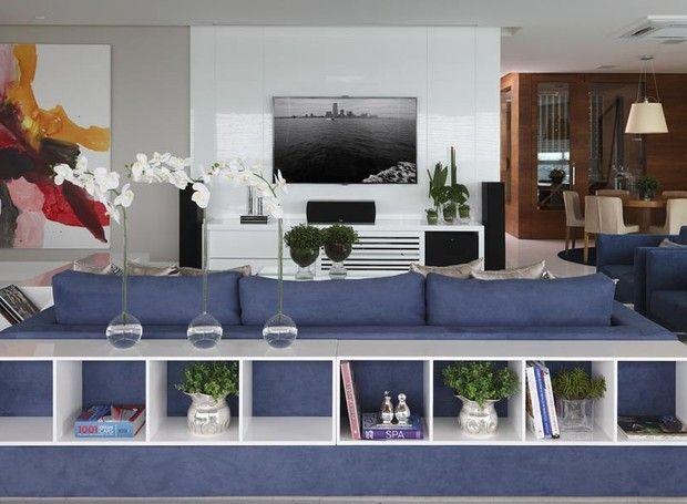 Sala De Estar Azul Marinho ~  Azul Marinho no Pinterest  Acentos da sala de estar, Salas cinza e