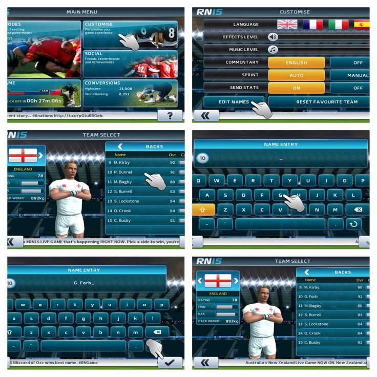 DID YOU KNOW that you can change the PLAYER NAMES in RN15?  Yep, here's how...  Happy #HumpDay! http://www.dmc-ops.com/rn15storelink.php  #knowledge #player #rugby #rwc2015 #union #sixnations #6nations #humpday #tutorial #mobile #video #games #ios #android #googleplay #appleappstore #win