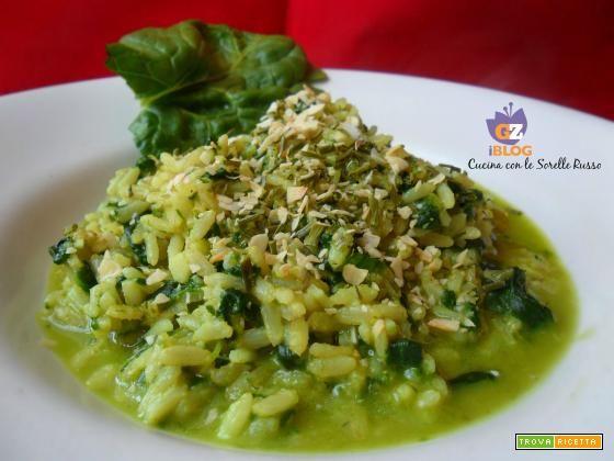 Riso integrale alla crema di spinaci  #ricette #food #recipes