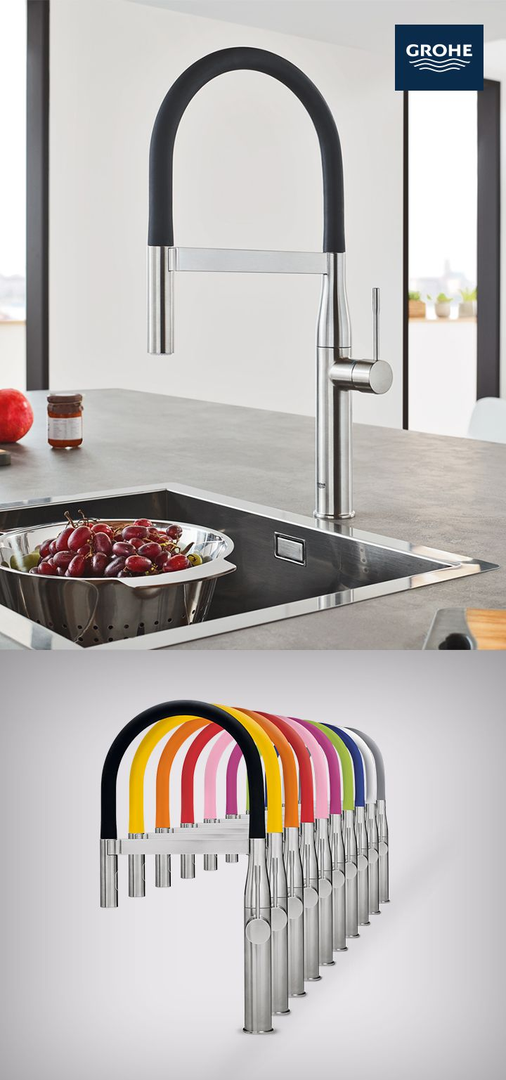 The New Grohe Essence Semi Pro Kitchen Faucet Has Modern Design And